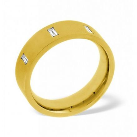 18K Gold 0.17ct H/si Diamond Wedding Band, WB21-17HSY